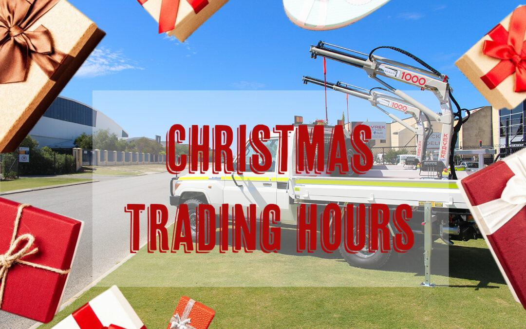 Kevrek Christmas Trading Hours